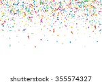 abstract colorful confetti...   Shutterstock .eps vector #355574327