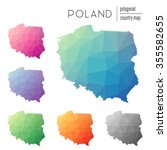 Set Of Vector Polygonal Poland...