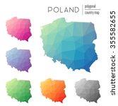 Set Of Vector Polygonal Poland...