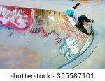 rome  italy   april 2014  young ... | Shutterstock . vector #355587101