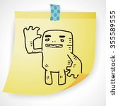 monster doodle | Shutterstock . vector #355589555