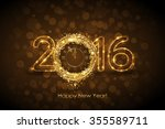 vector 2016 happy new year... | Shutterstock .eps vector #355589711