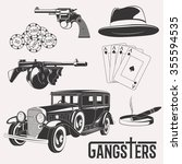 Isolated Vector Gangster Set O...