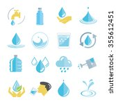 water icons set  drinking water ... | Shutterstock .eps vector #355612451