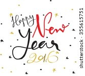 light black red gold happy new... | Shutterstock .eps vector #355615751