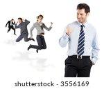 great news   businessman... | Shutterstock . vector #3556169
