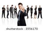 handsome businessman leader... | Shutterstock . vector #3556170
