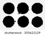 grunge circles.grunge round... | Shutterstock .eps vector #355622129