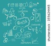 business marketing element.... | Shutterstock .eps vector #355624445
