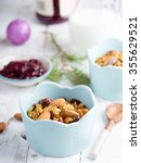 granola on a wooden table | Shutterstock . vector #355629521