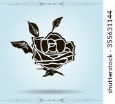 rose vector icon | Shutterstock .eps vector #355631144