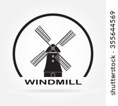 Windmill Icon Isolated On Whit...