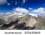 mountain glacier panorama with... | Shutterstock . vector #355650869