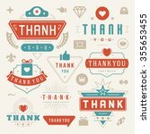 thank you labels and badges... | Shutterstock .eps vector #355653455