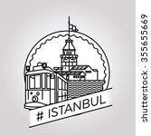 vector line istanbul badge | Shutterstock .eps vector #355655669