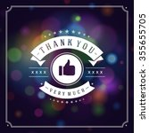 thank you typography message... | Shutterstock .eps vector #355655705