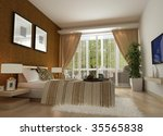 modern design interior of... | Shutterstock . vector #35565838