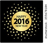 happy new year greeting card.... | Shutterstock .eps vector #355678184