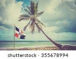 Palm Tree Over Caribbean Sea I...