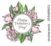 vintage happy valentines day... | Shutterstock .eps vector #355689821