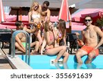 young people having fun in the... | Shutterstock . vector #355691639
