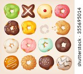 set of colorful delicious... | Shutterstock .eps vector #355695014
