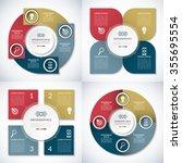 set of business infographic... | Shutterstock .eps vector #355695554