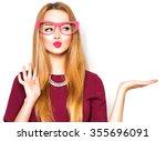 Beauty funny teenage girl with...