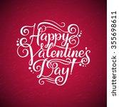 happy valentine's day ... | Shutterstock .eps vector #355698611