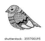 adult coloring book page design ... | Shutterstock .eps vector #355700195
