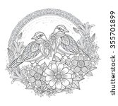 Blessing Bird Coloring Page...