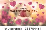 happy valentine day fine daisy... | Shutterstock . vector #355704464
