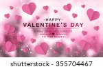 happy valentine day fine daisy... | Shutterstock . vector #355704467