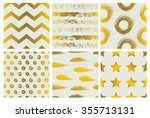 set of spectacular patterns... | Shutterstock .eps vector #355713131