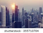 dubai downtown in the evening ... | Shutterstock . vector #355713704