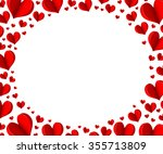 Red Heart Origami. Elegant Ova...