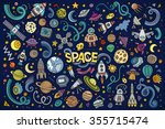 colorful vector hand drawn... | Shutterstock .eps vector #355715474