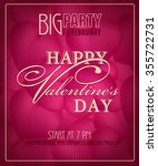 happy valentine's day party in... | Shutterstock .eps vector #355722731