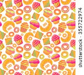 doodle vector.bakery cakes and... | Shutterstock .eps vector #355722974