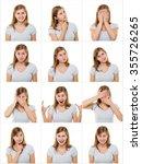 Teenage Girl Making Facial...