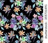 beautiful watercolor flowers | Shutterstock . vector #355731491