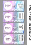 set of modern gift voucher... | Shutterstock .eps vector #355737821