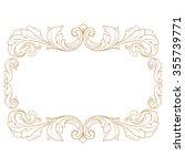 premium gold vintage baroque... | Shutterstock .eps vector #355739771
