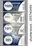 set of modern gift voucher... | Shutterstock .eps vector #355740494