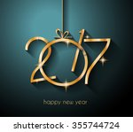 2017 happy new year background...   Shutterstock .eps vector #355744724