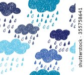 Seamless Rainy Pattern. Vector...
