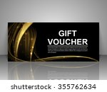 gift voucher template. abstract ... | Shutterstock .eps vector #355762634