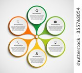 abstract infographic in the...