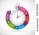 infographics design template.... | Shutterstock .eps vector #355763081