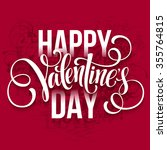 happy valentines day... | Shutterstock .eps vector #355764815
